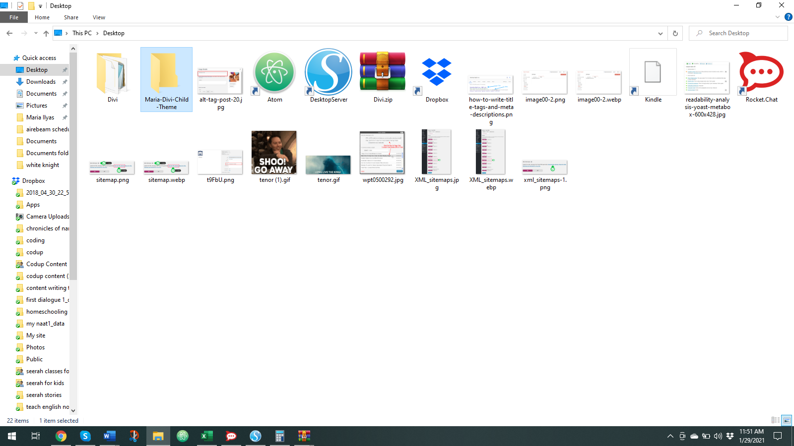 Create a folder anywhere on your computer and give it a unique name.
