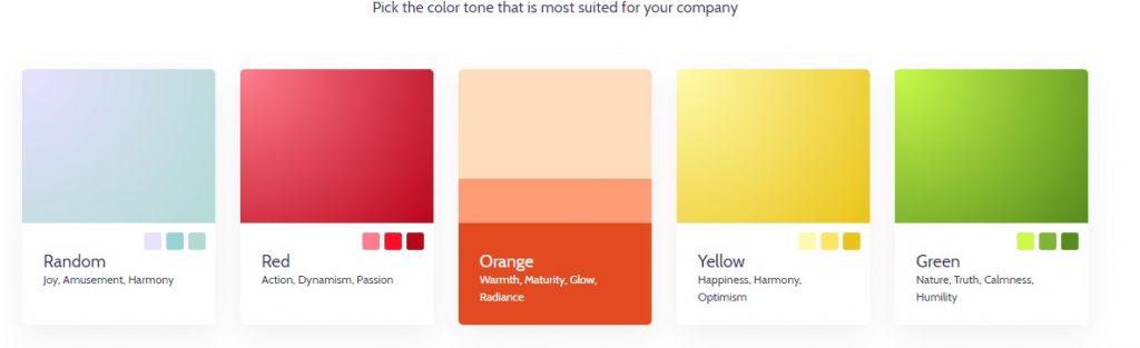 design.ai, blogs, histoire de couleurs