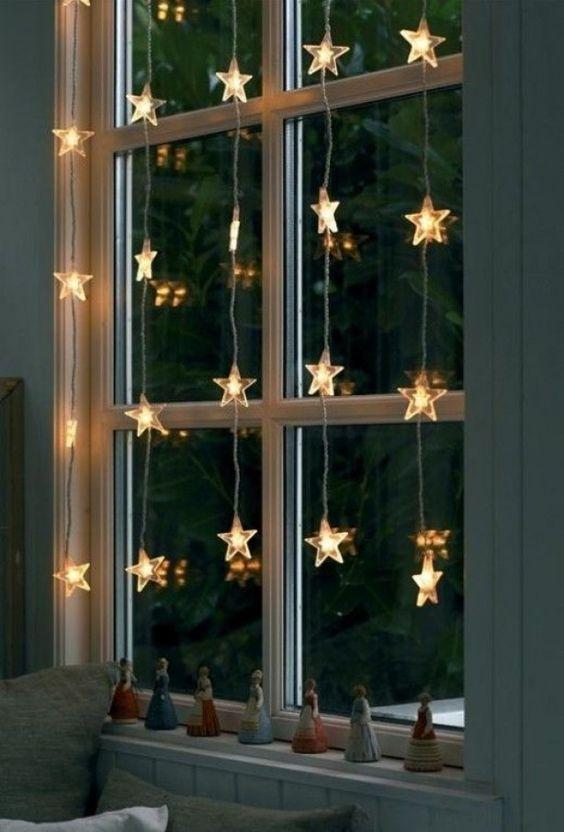 Fairy Lights on Window
