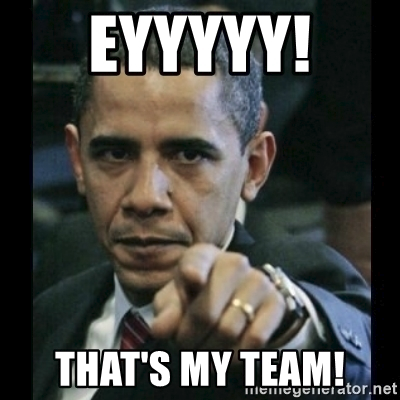 Obama pointing out to his team