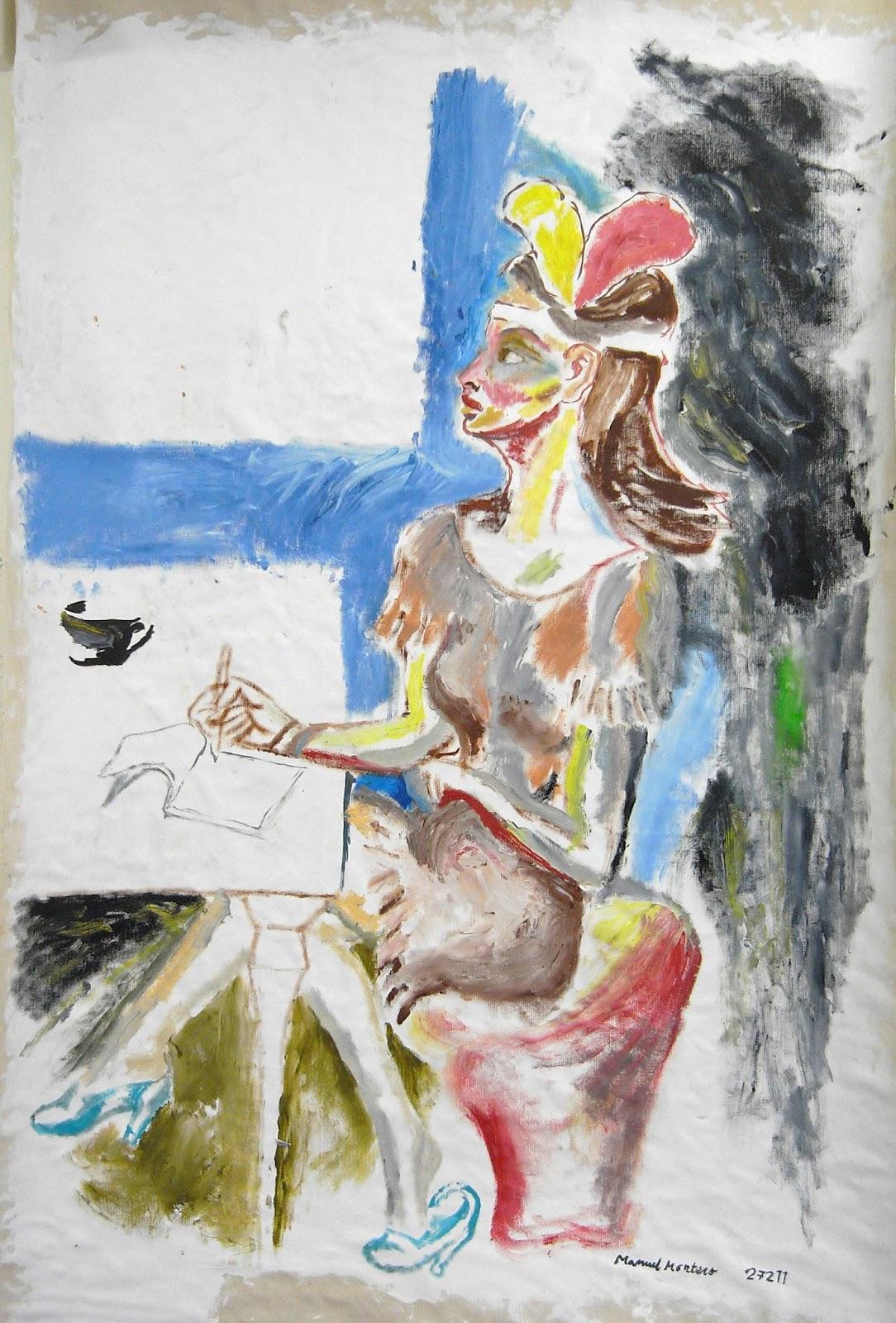 peinture à l'huile par Manuel Montero