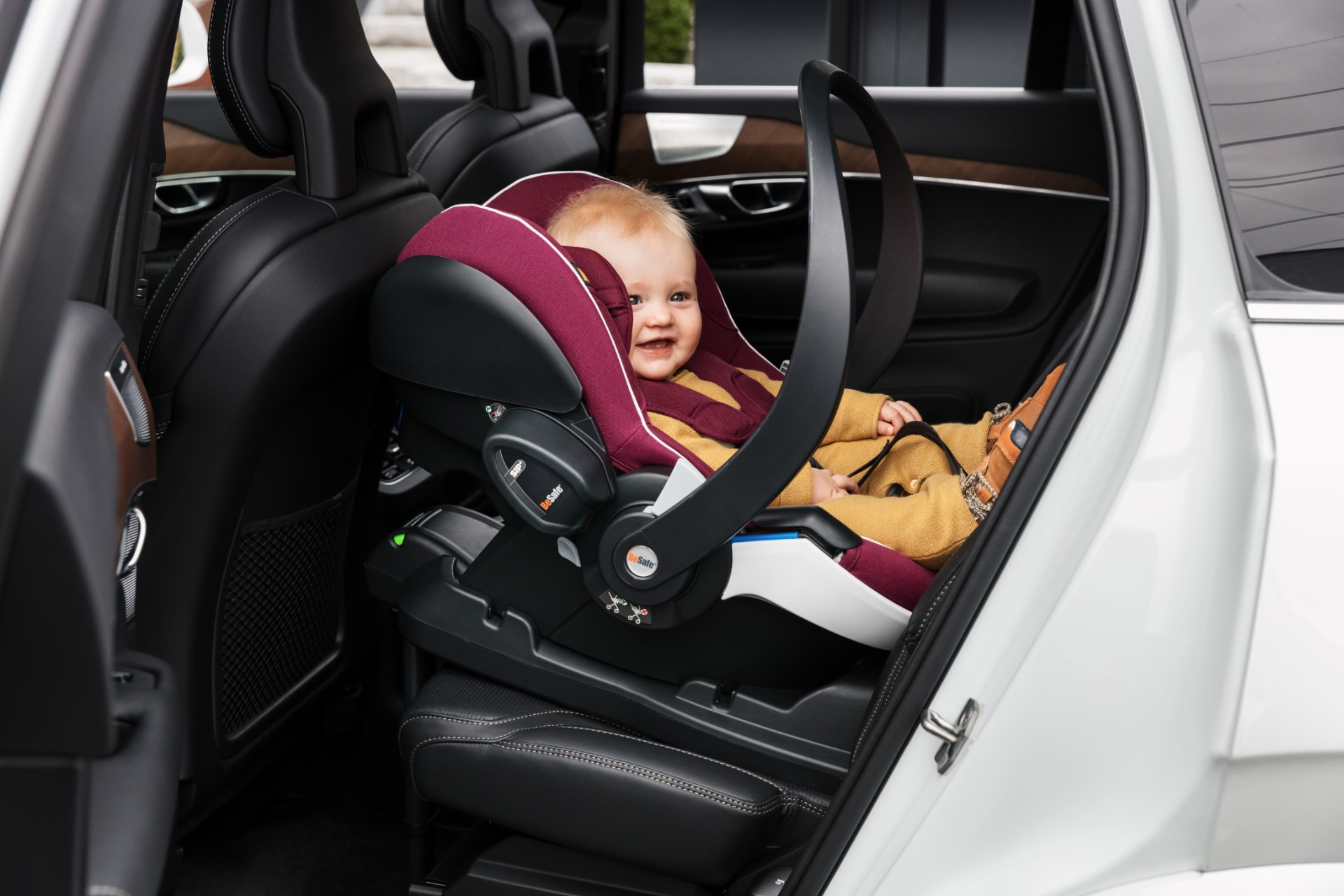 Cute baby in car seat