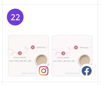 Posts programmés sur plusieurs plateformes via le planificateur Canva