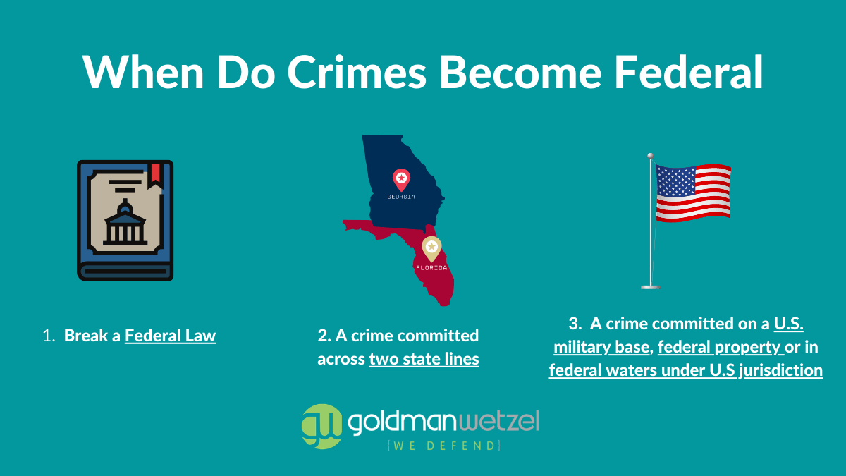 graphic showing what federal crimes are