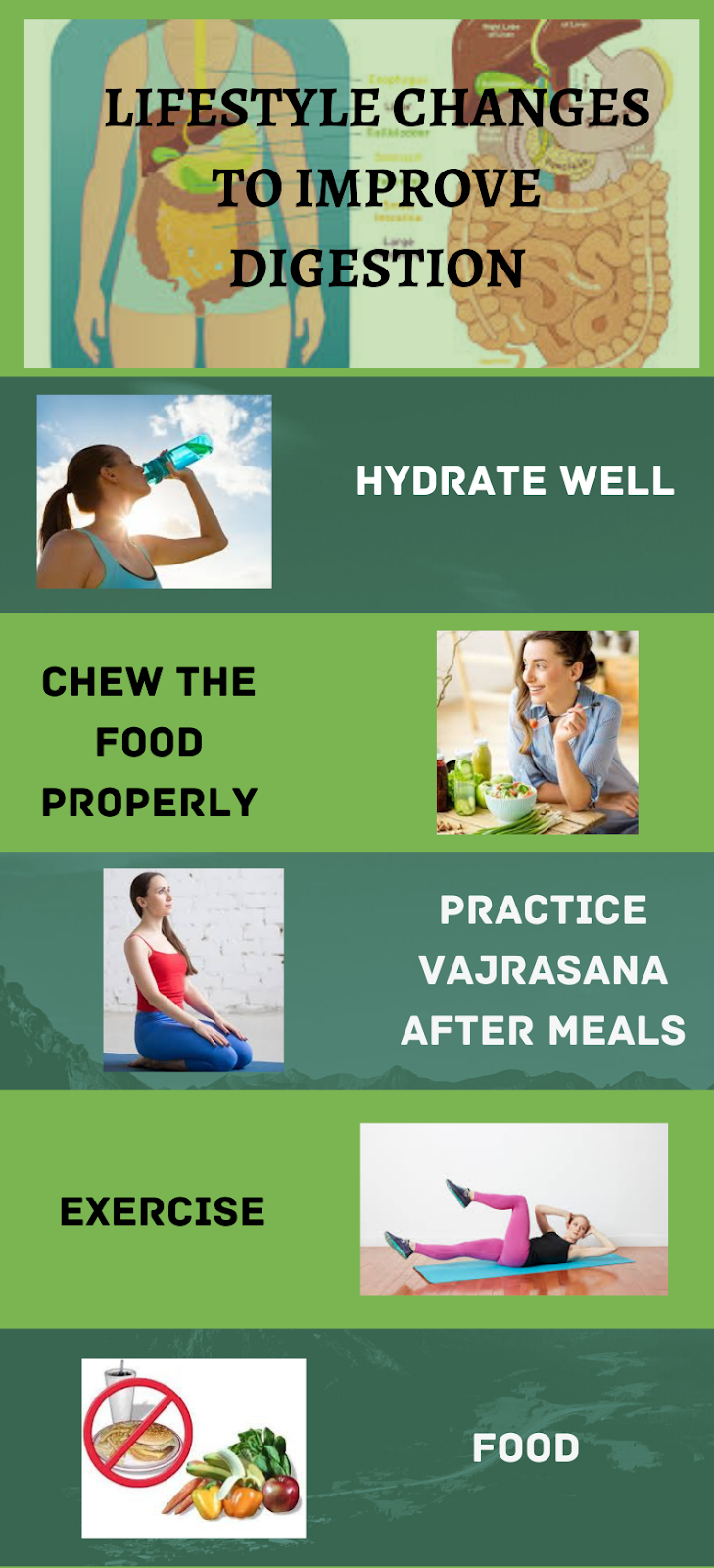 Lifestyle changes to improve digestion