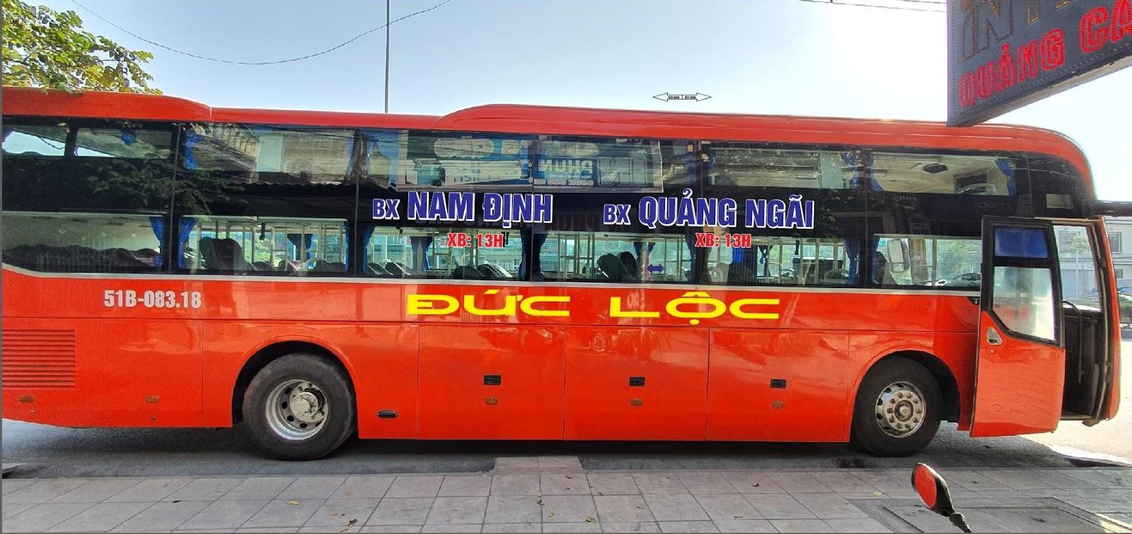 Xe Đức Lộc từ Nam Định đi Quảng Ngãi