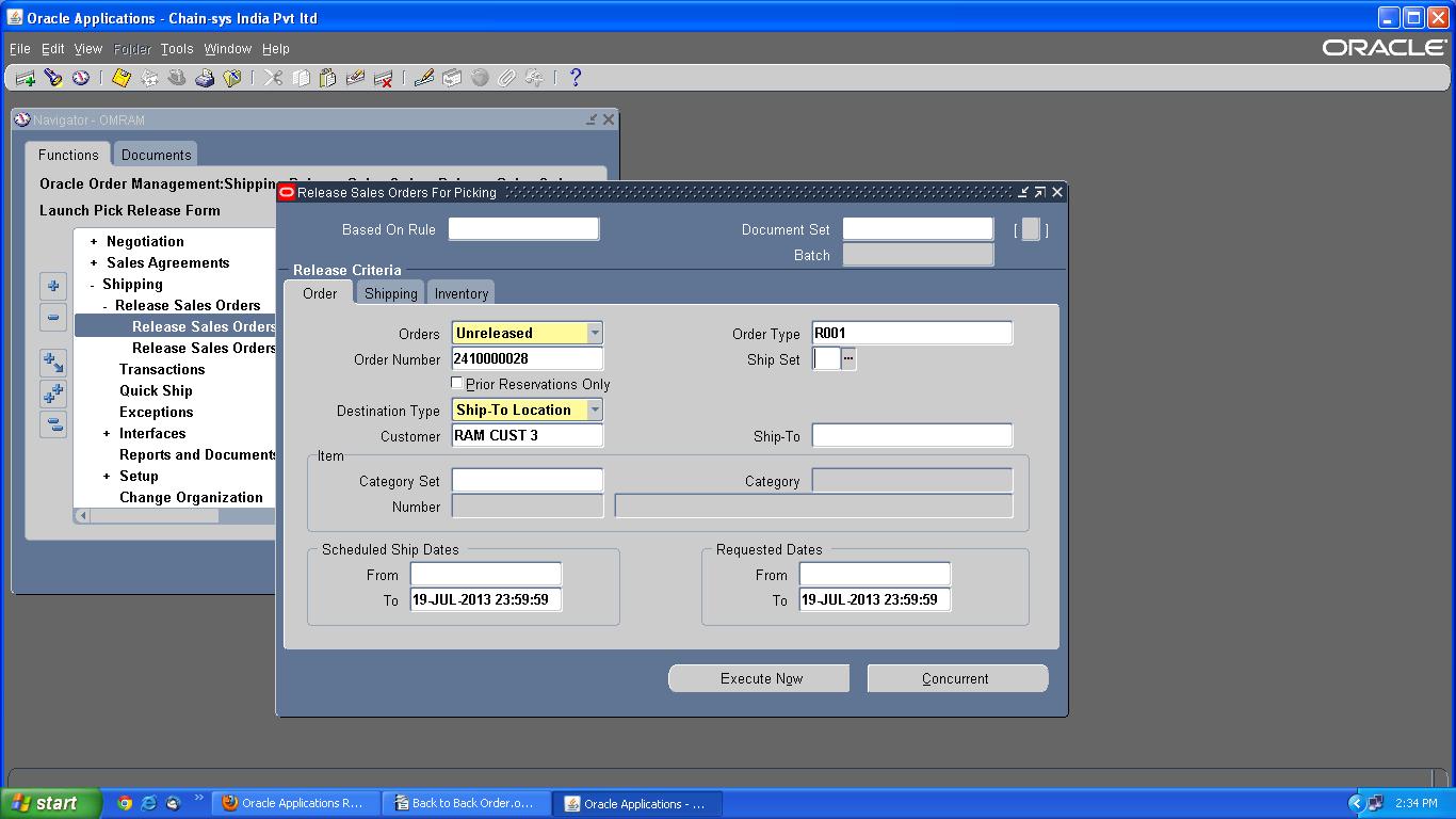 Oracle R12 Order Management Back to Back Order – learn