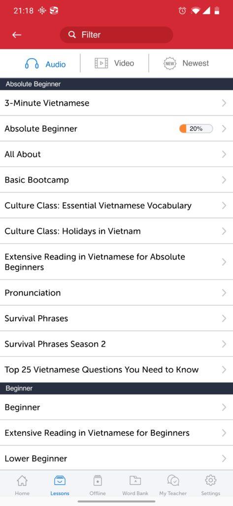 innovative app menu