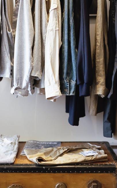 box, closet, clothes