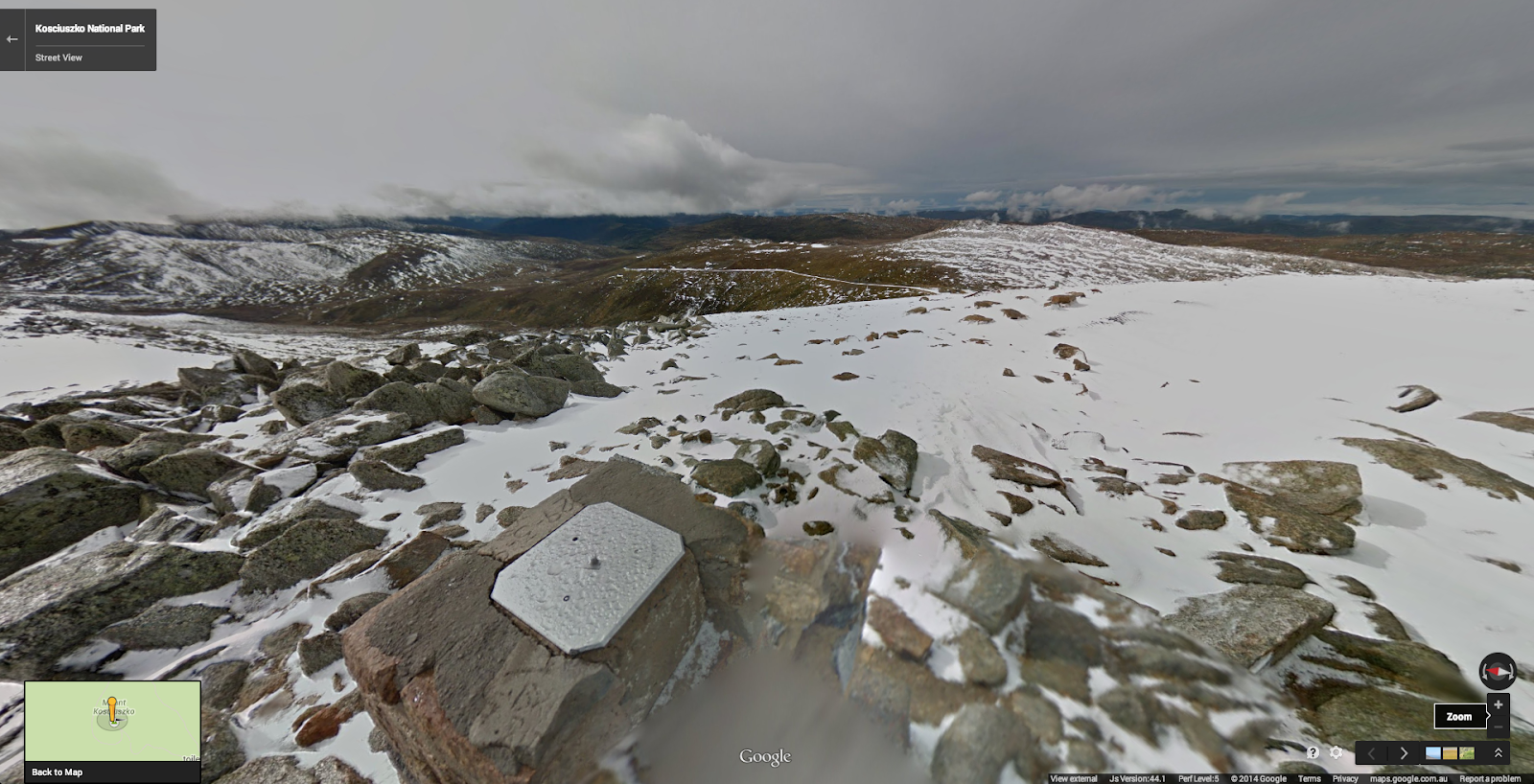 At the summit of Mount Kosciuszko