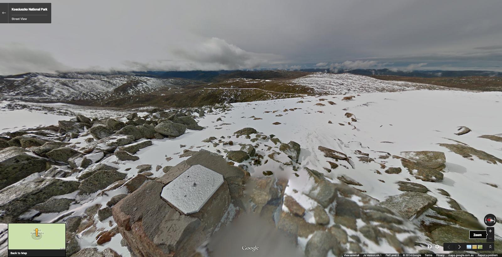 At the summit of Mount Kosciuszko