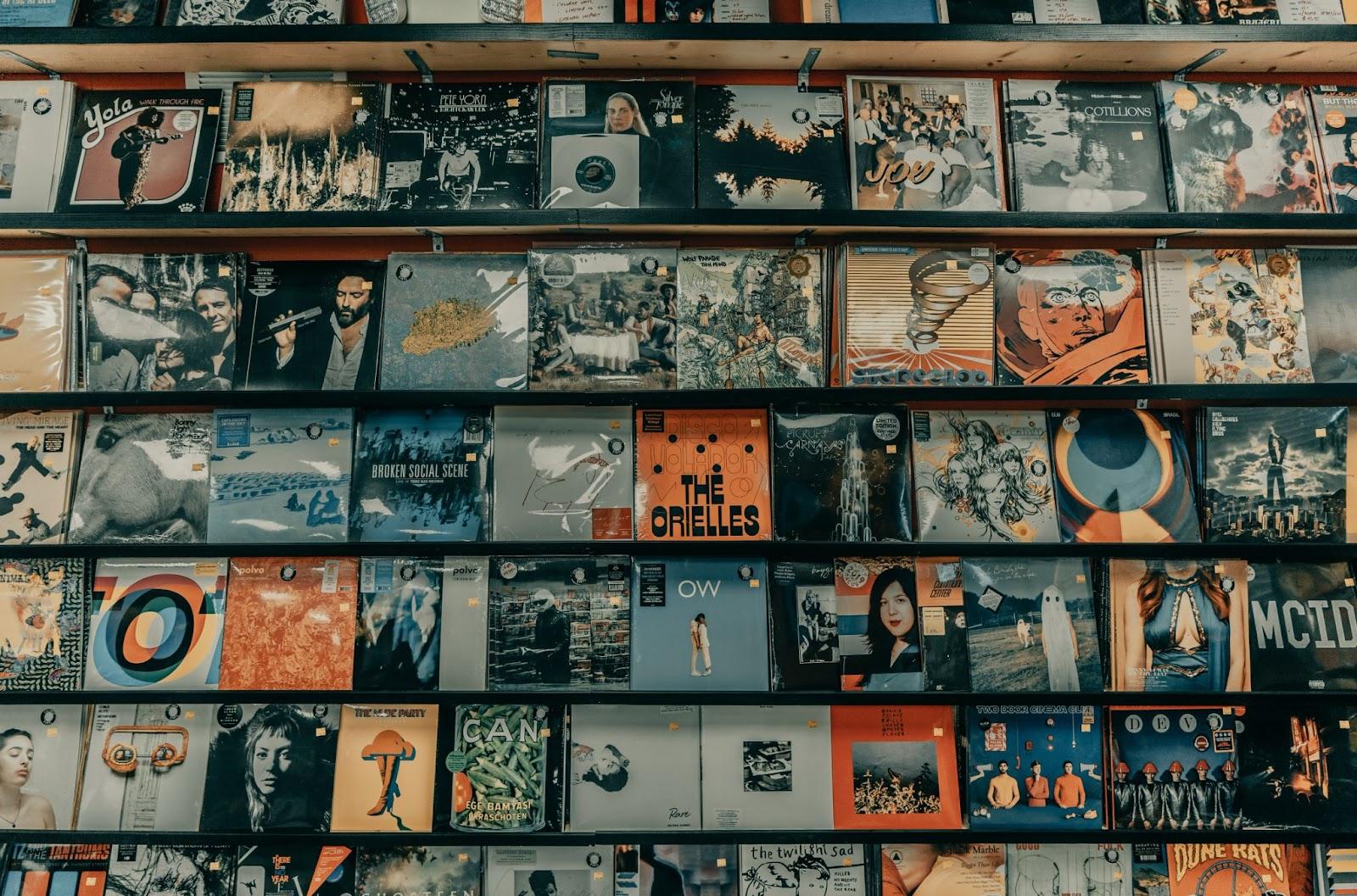 Vintage vinyl album collection