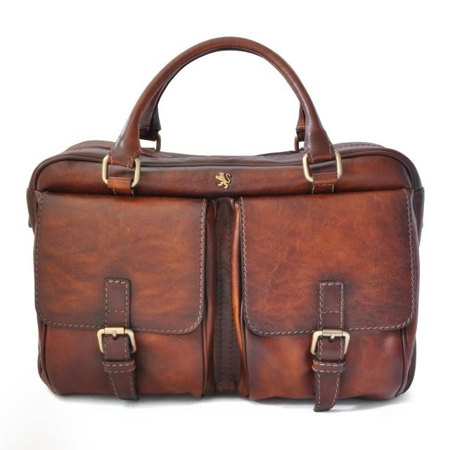 Pratesi Bruce Range Montalcino Top Zip Leather Briefcase for Men