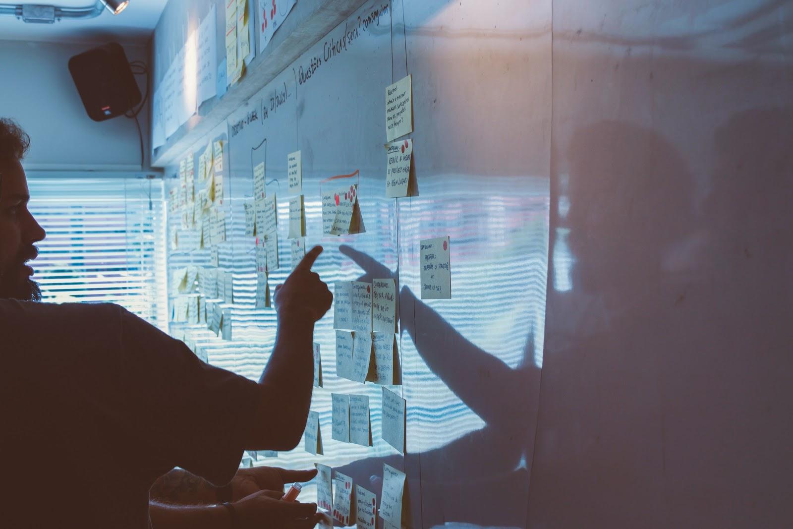 data scientist analyzing