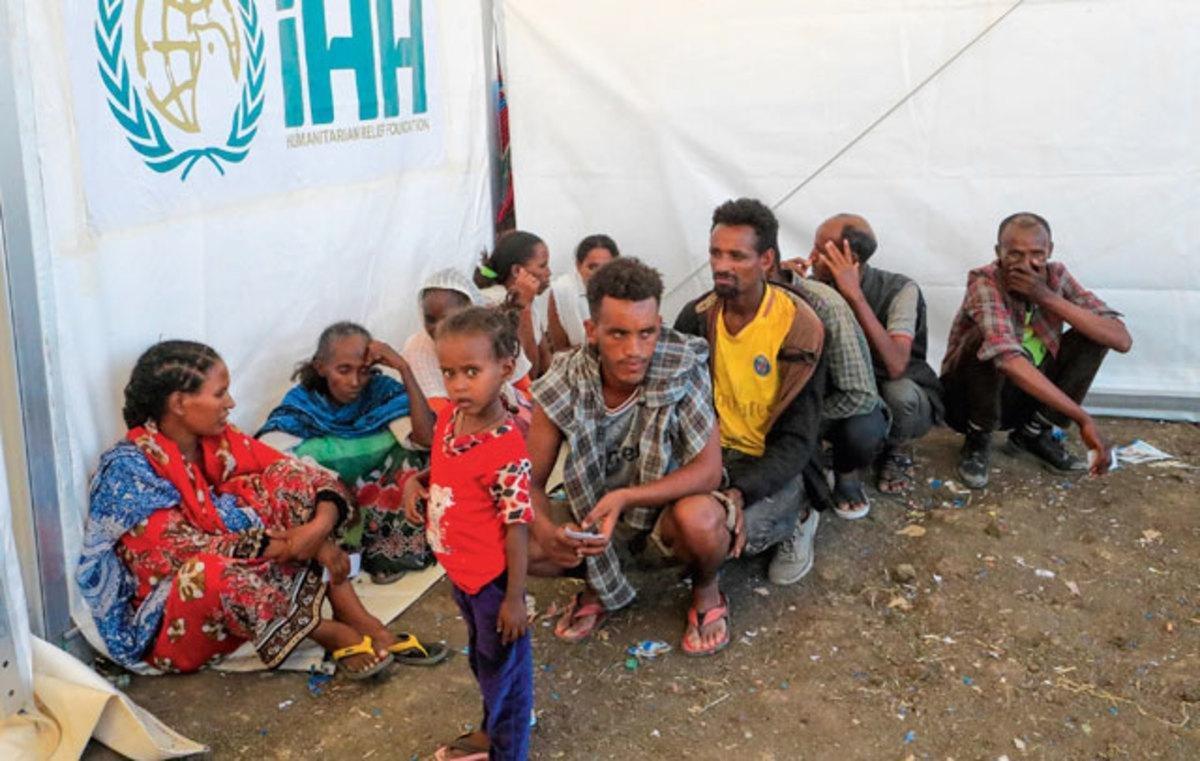 Quelque 60000 Ethiopiens se seraient réfugiés au Soudan à la suite de la guerre au Tigré. Les déplacés intérieurs sont beaucoup plus nombreux., belgaimage