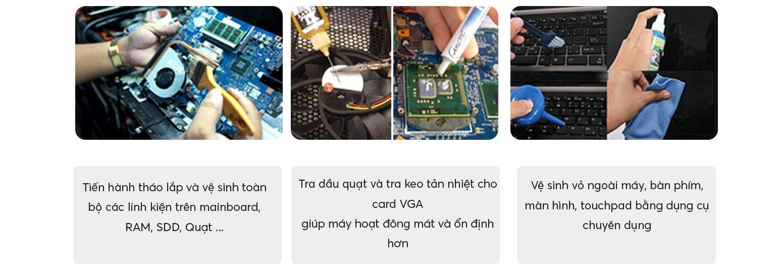 dịch vụ vệ sinh laptop