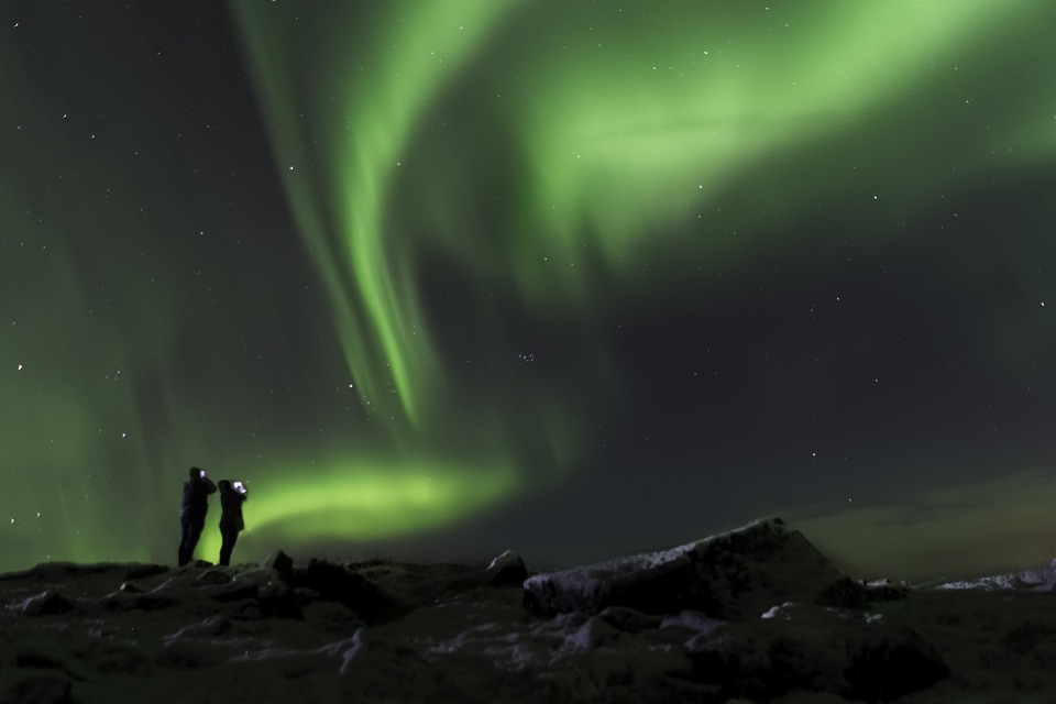 Aurora Borealis, Iceland, Northern, Sky, Night, Aurora