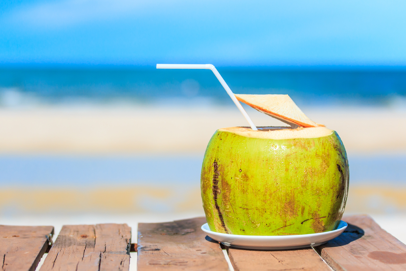 Coconut water for hydration
