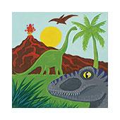 canvas painting design - Dinosaur Kingdom