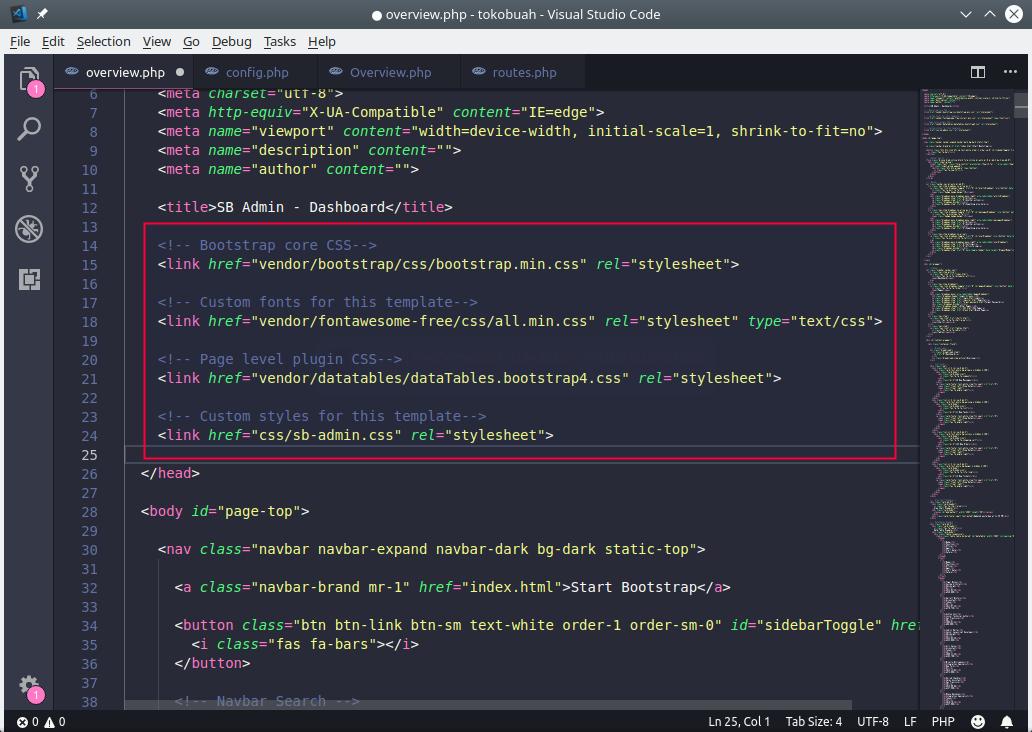 Kode Link CSS