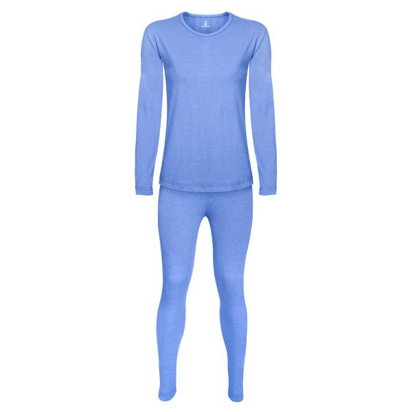 ست تی شرت و شلوار زنانه ساروک مدل A رنگ آبی