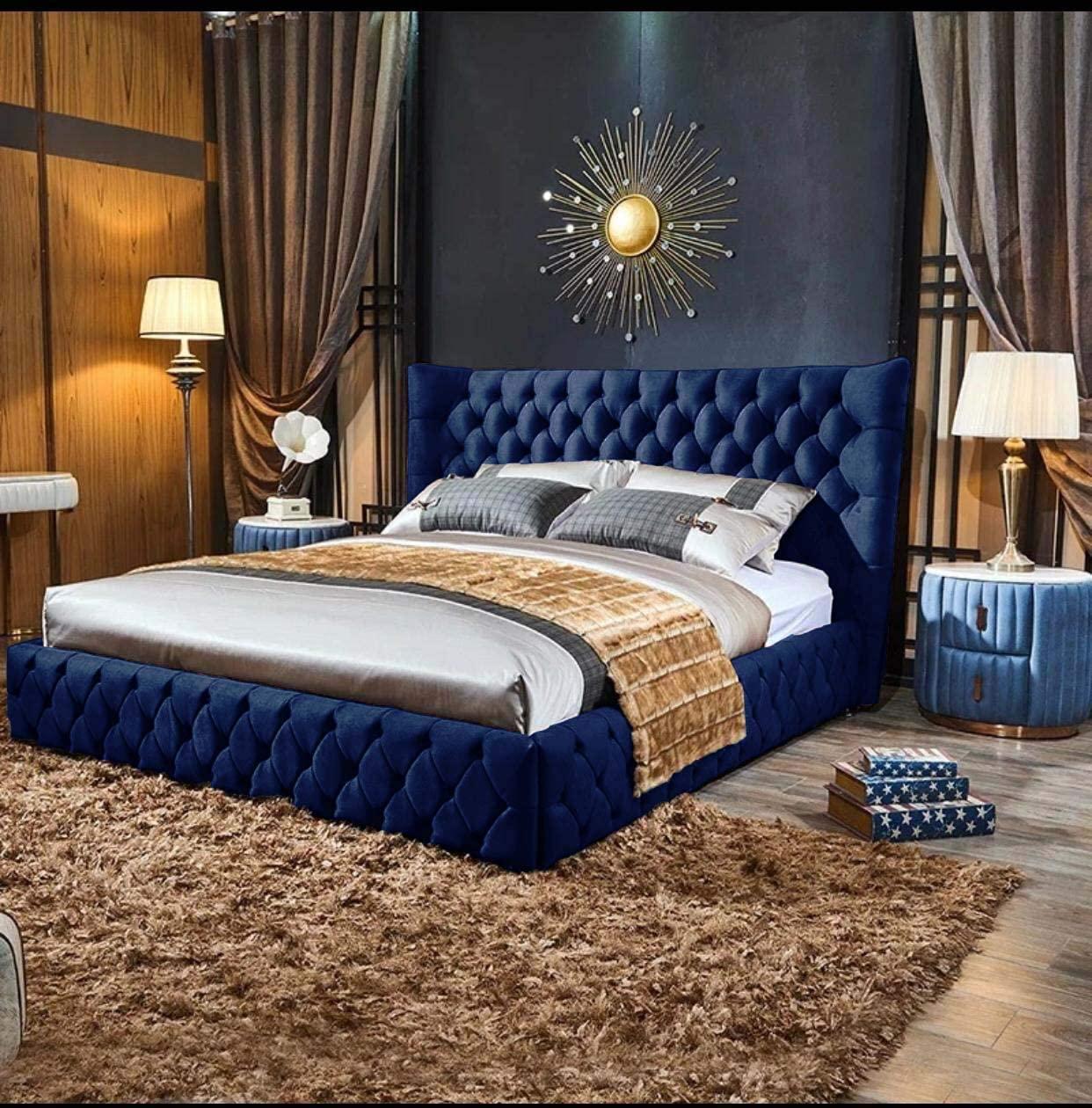 Stylish Plush Velvet Bed