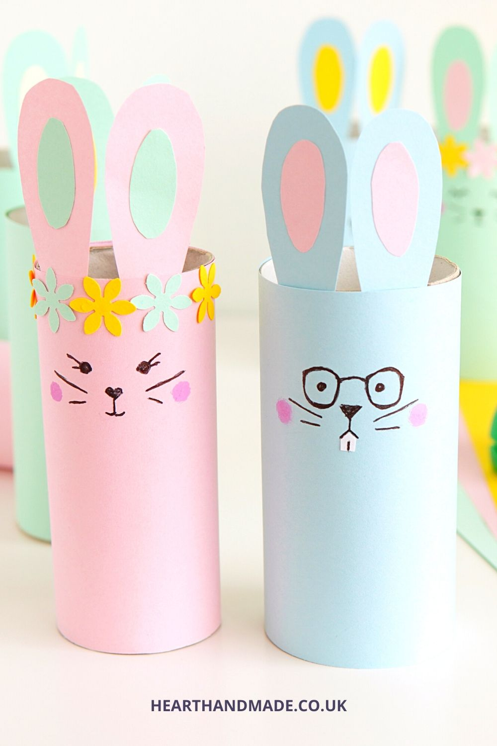 Easter crafts - Toilet roll tube bunnies