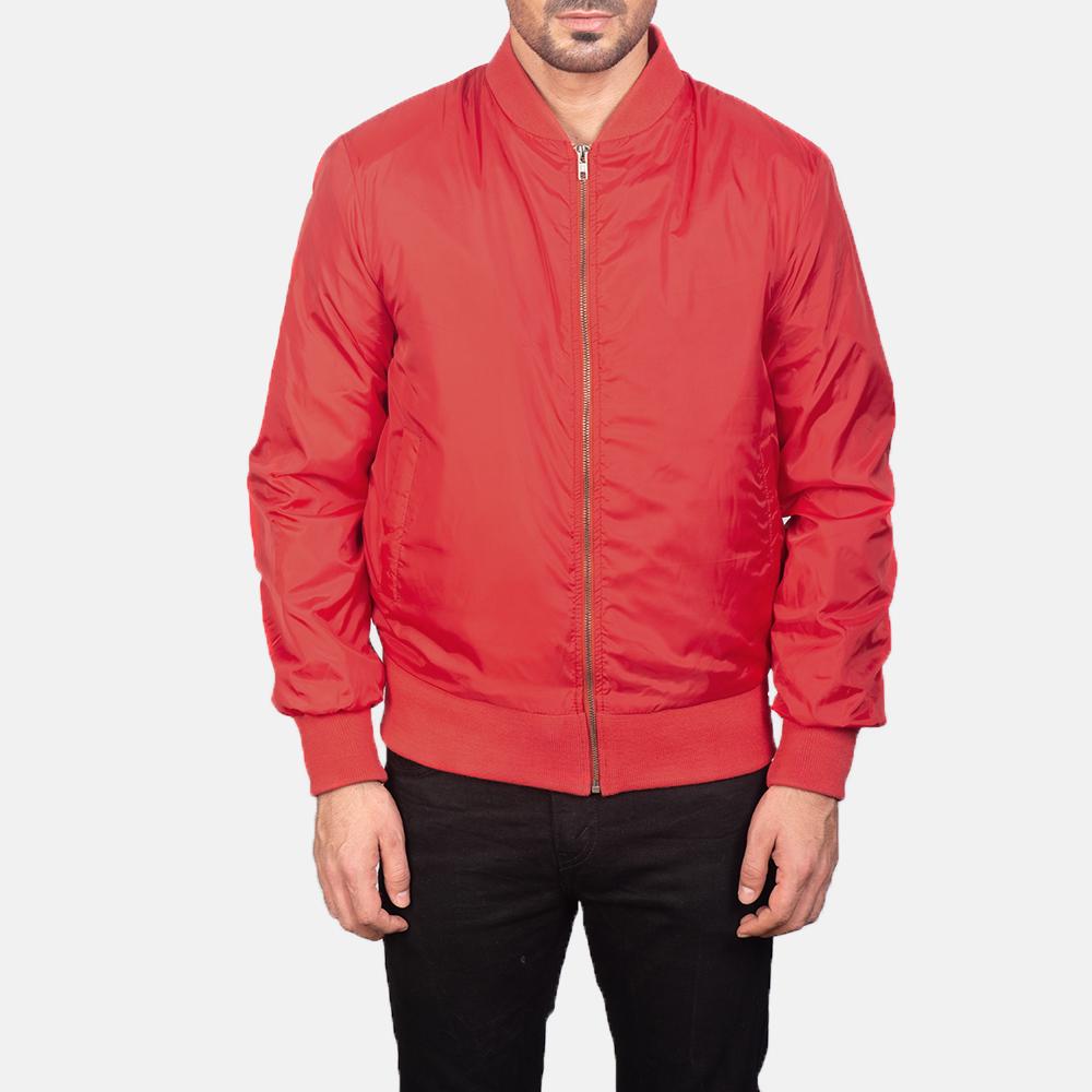 red aviator jacket for men