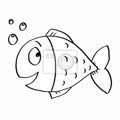 Fototapeta cute kolorowanki ryb na wymiar • czarny, sztuka, różowy ...