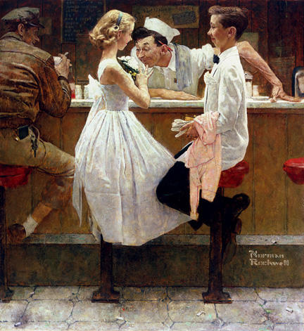 After the Prom Norman Rockwell
