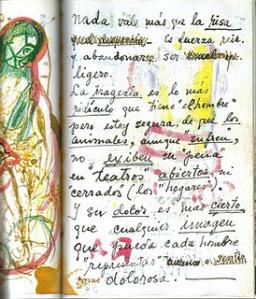 una página de su diario