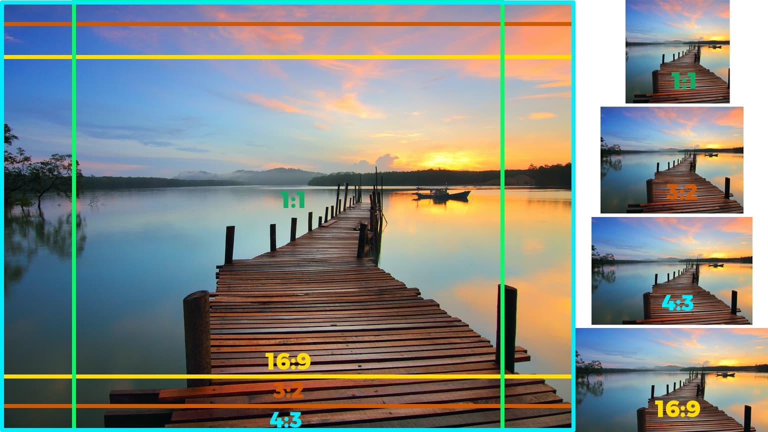 Different aspect ratios
