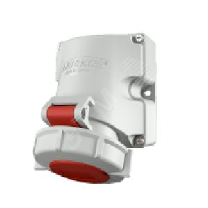 Розетка кабельная 16А 3Р+N+E IР67 на поверхность 400В