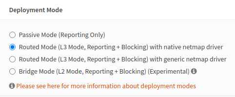 Deployment Mode Settings