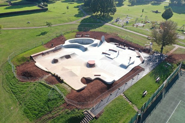 An aerial view of the revamp plans at Exmouth Phear Skate Park