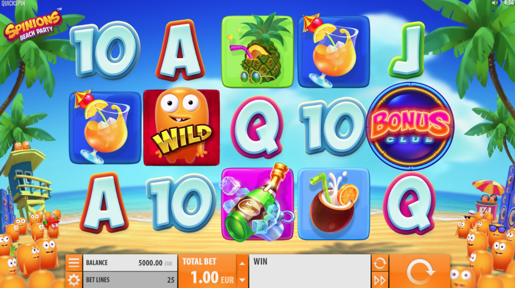 Spinions Beach Party Slots Game