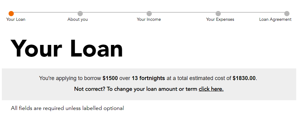 speckle loans online application process