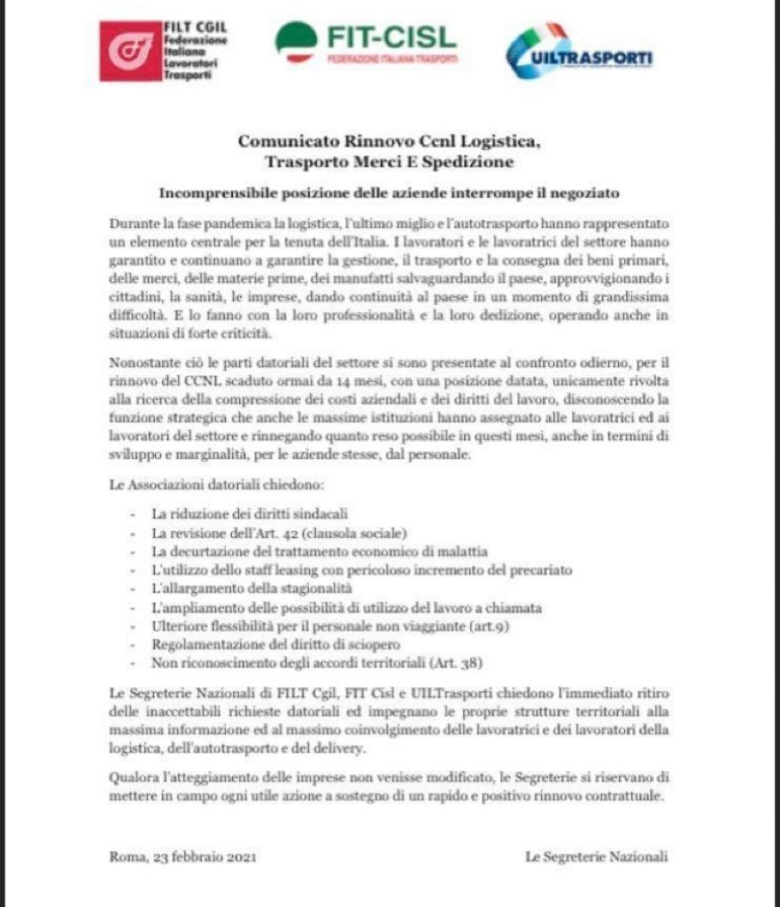 contrattazione sindacati