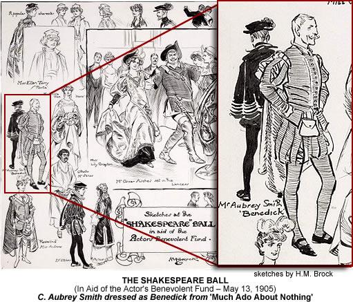 C Aubrey Smith at the 1905 Shakespeare Ball.