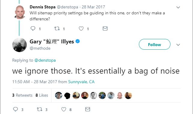 Gary Illyes của Google thông báo trên Twitter