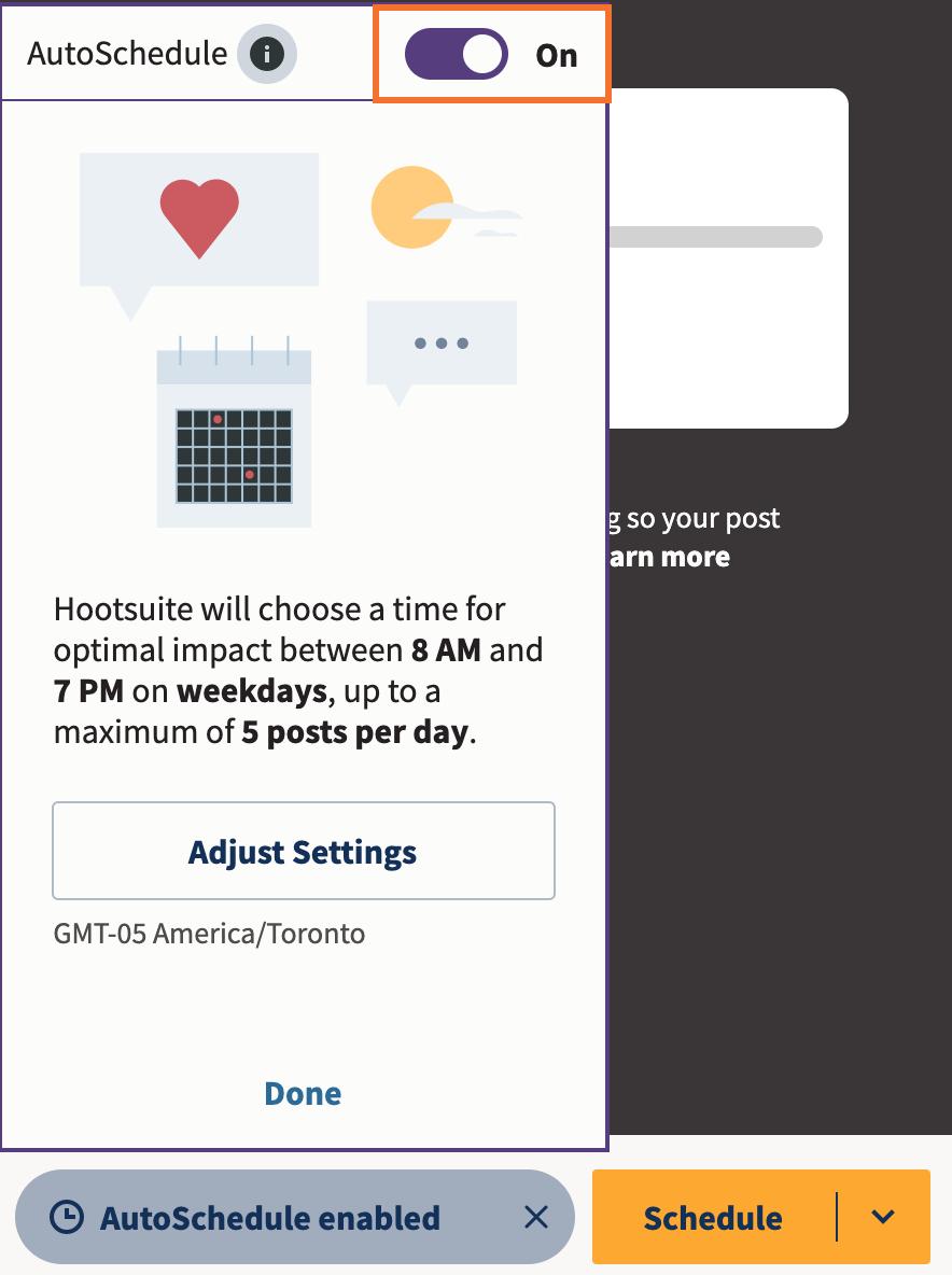 Autoschedule trên Hootsuite giúp bạn đăng bài hiệu quả  | TopOnSeek