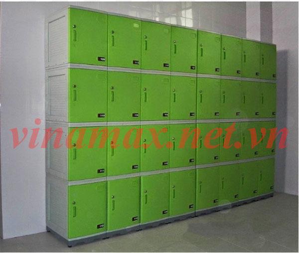 tủ locker 30 ngăn màu xanh cốm