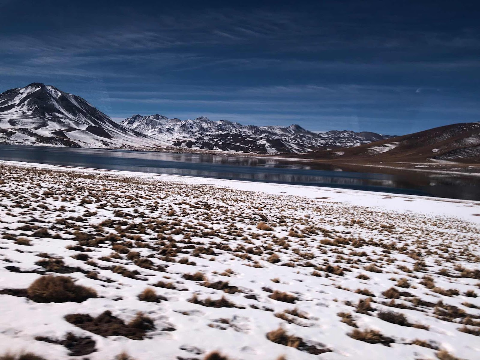 Snow and Ice and water in the high altitude Atacama Desert (Source: Palmia Observatory)