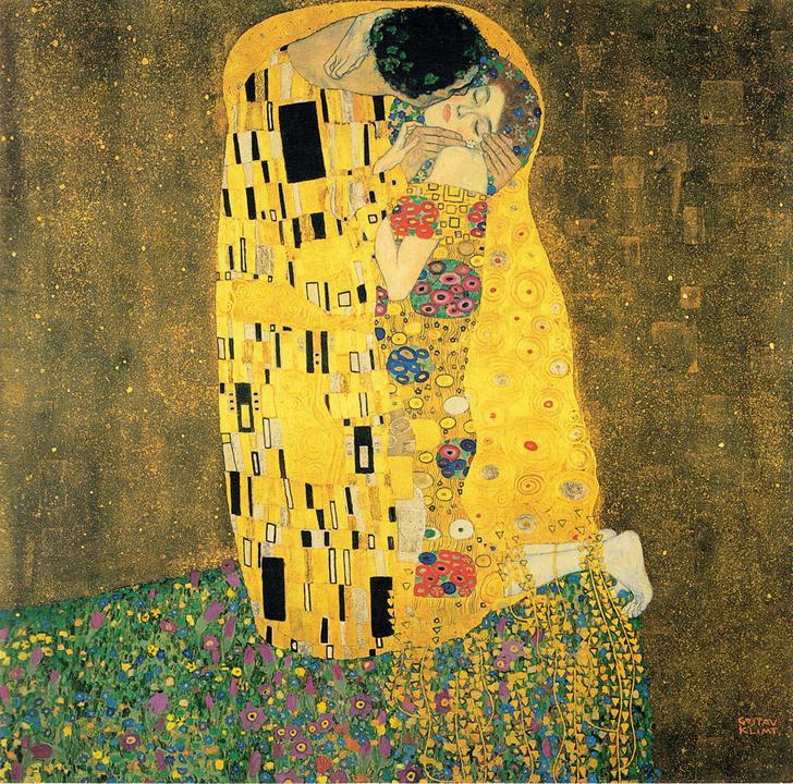 Transferencia bacteriana, o también conocido como El Beso, Gustav Klimt