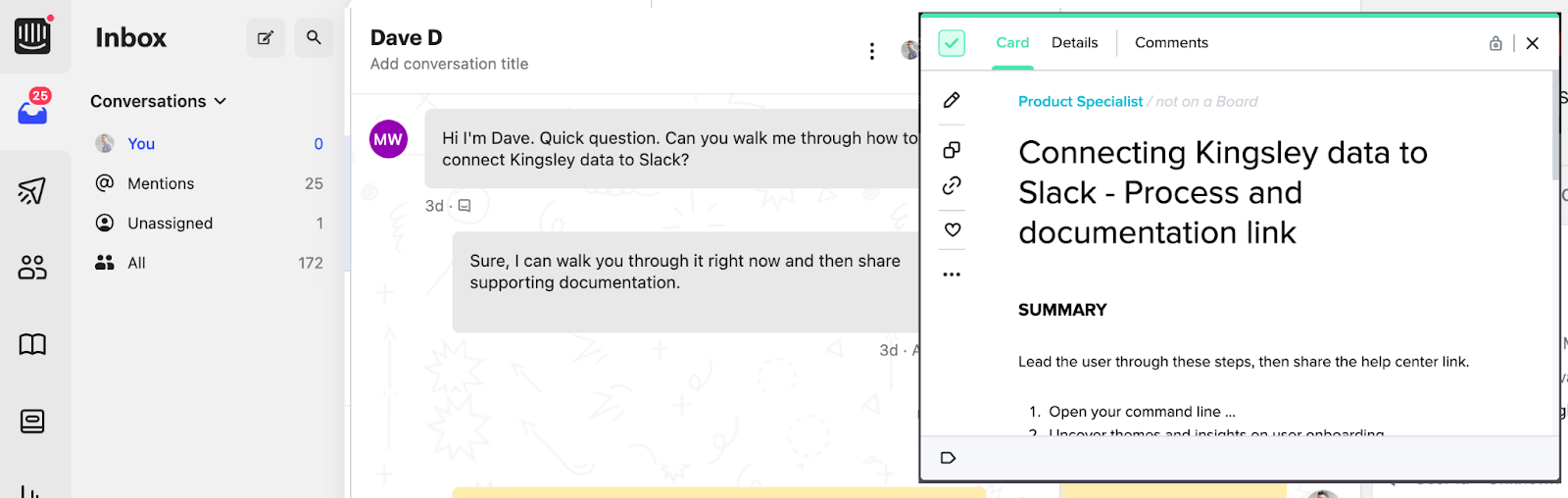 chatbot example for guiding customers