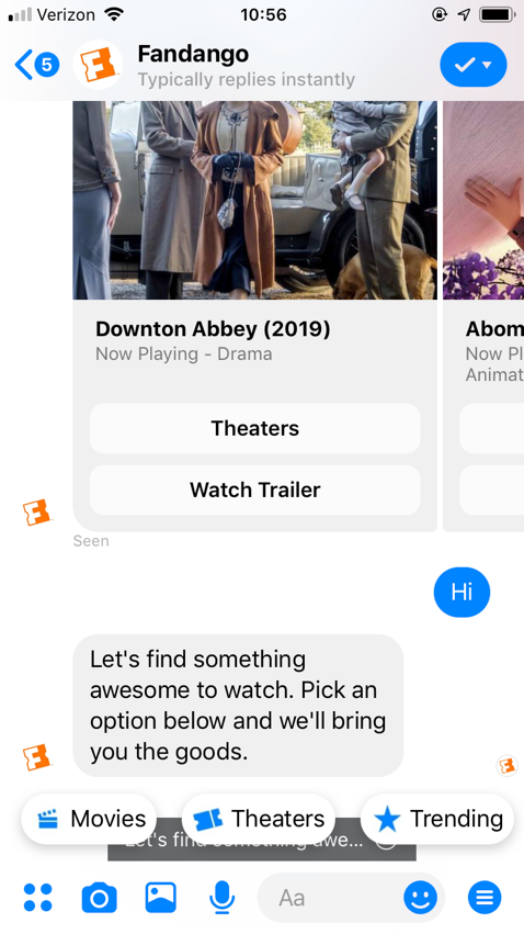 Messenger chatbot example