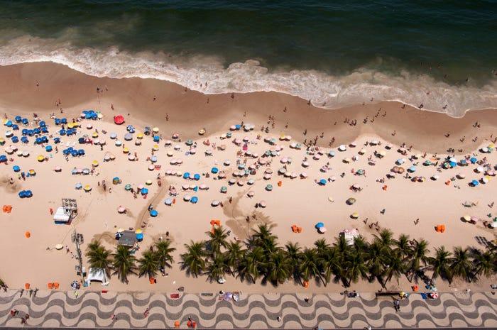 Praia de Copacabana, Rio, Brasil