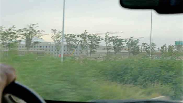 The site at Dabancheng seen from the road