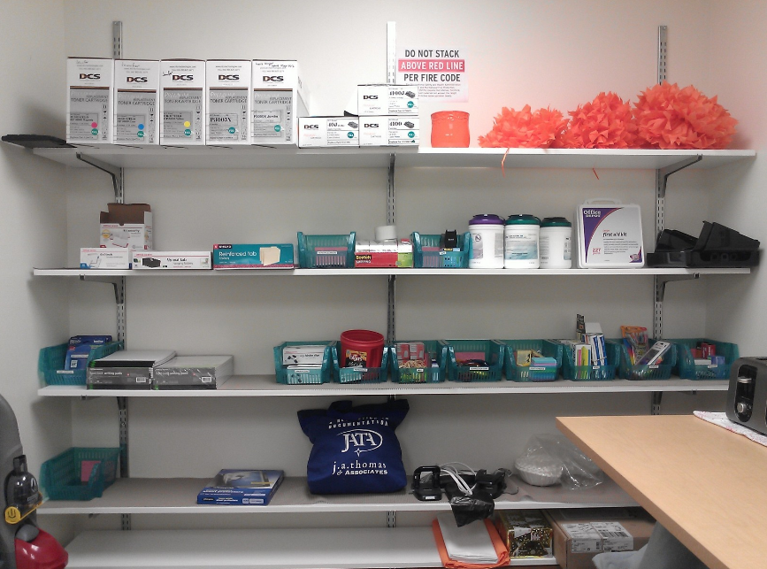 organized supply closet