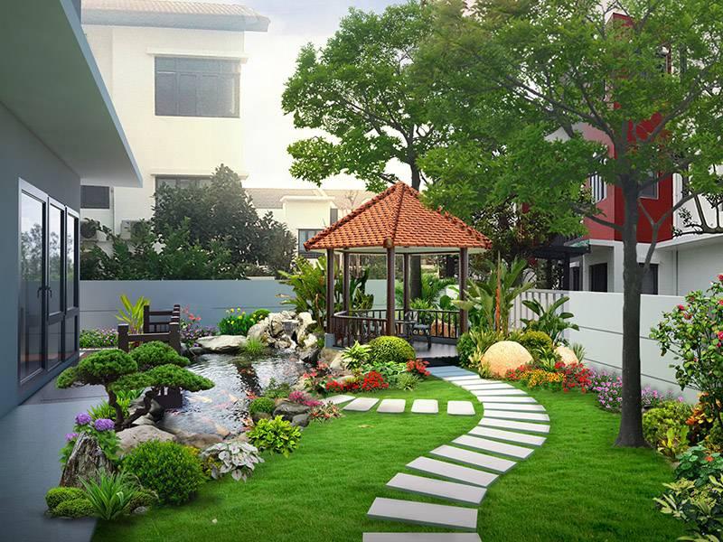 Tiểu cảnh sân vườn giúp ngôi nhà trở nên đẹp hơn